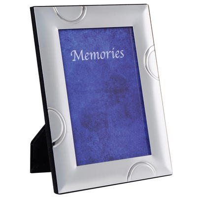 SLIGHT SECONDS - Two Tone Silver Plated Photo Picture Frame - Semi Circle