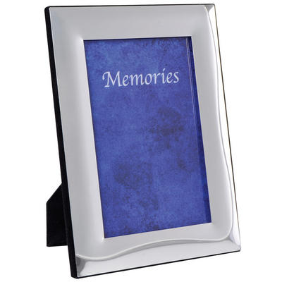 SLIGHT SECONDS - Two Tone Silver Plated Photo Picture Frame - Linear Wave