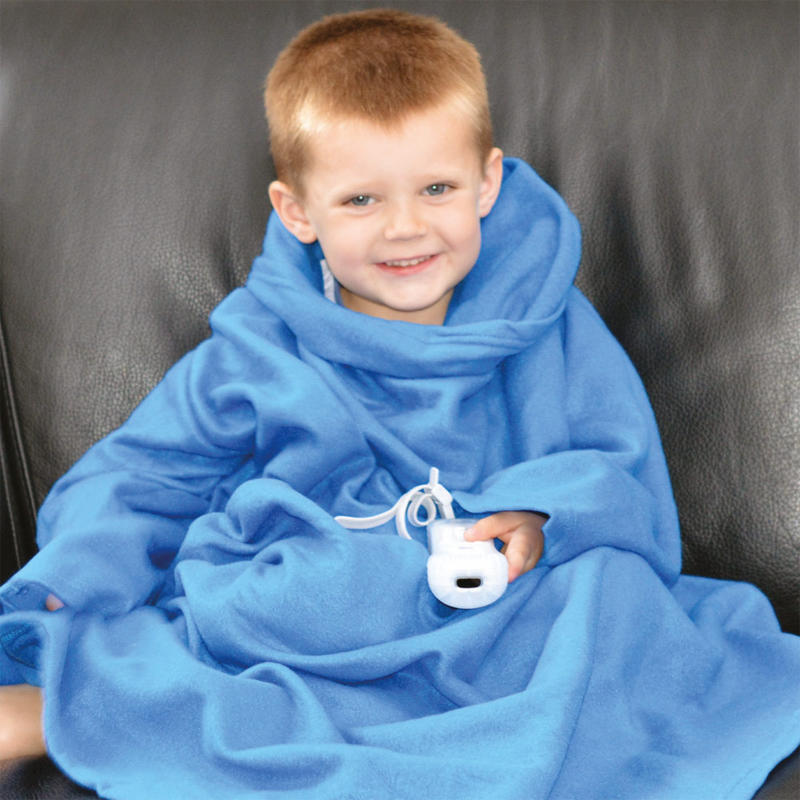 Oversized Snuggle Blanket With Integrated Sleeves One Size Child Blue