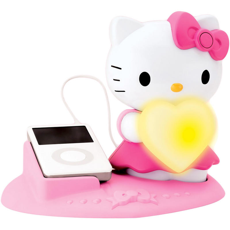 hello kitty magic mood light with speaker system mp3 phone. Black Bedroom Furniture Sets. Home Design Ideas
