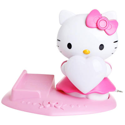 Hello Kitty Magic Mood Light With Speaker System MP3 Phone Stand Age 8+