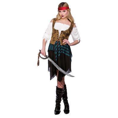 Ladies Caribbean Pirate XS Teen Size Fancy Dress Halloween Costume UK6-8