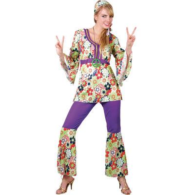 Ladies Hippie Chick XS Teen Size Fancy Dress Halloween Costume UK6-8