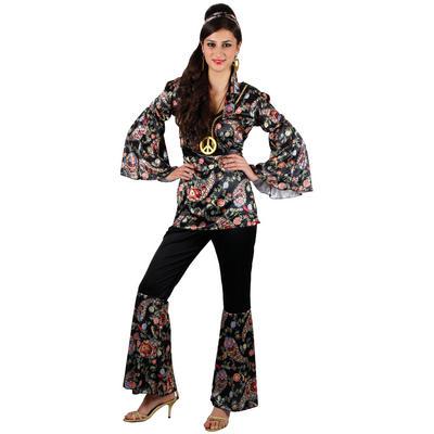 Ladies Peace Lovin' Hippie XS Teen Size Fancy Dress Halloween Costume UK6-8