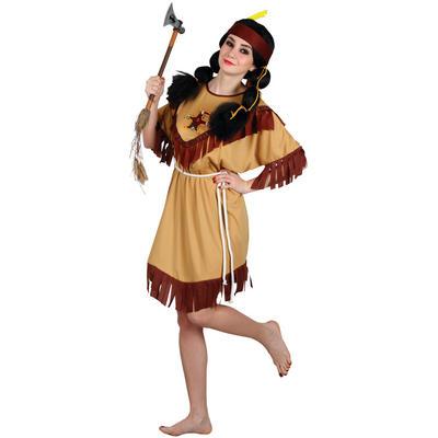 Ladies Native Indian - Budget XS Teen Size Fancy Dress Halloween Costume Bown UK6-8