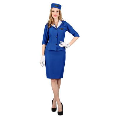 Ladies Pan-Am Hostess XS Teen Size Fancy Dress Halloween Costume Blue UK6-8