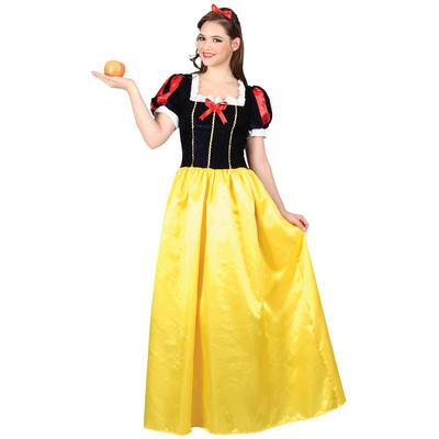 Ladies Snow Princess XS Teen Size Fancy Dress Halloween Costume Yellow UK6-8
