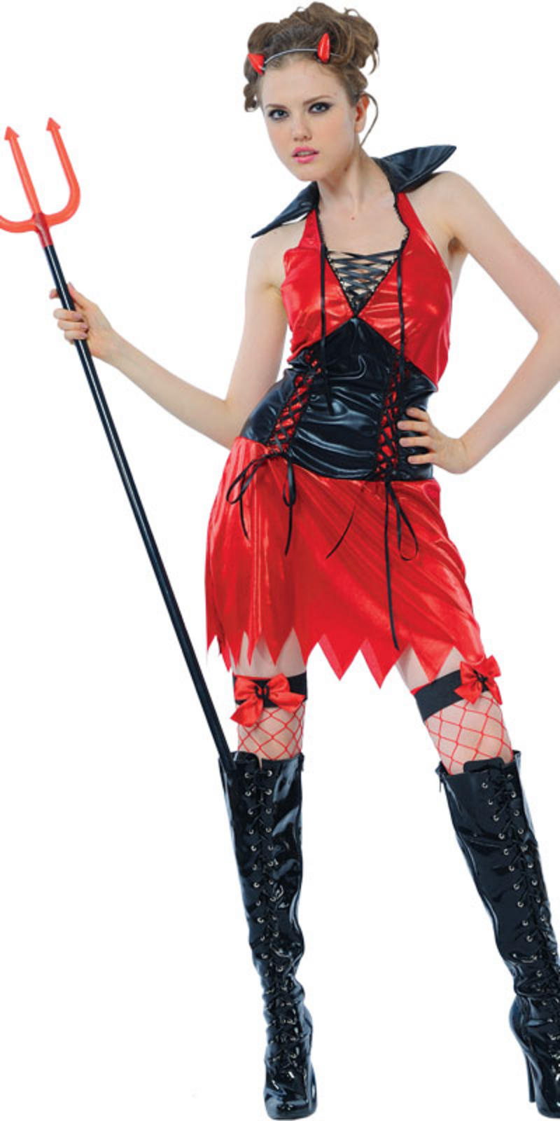 Teen Size New Red Hellfire Devil Teen Size Fancy Dress Halloween Costume