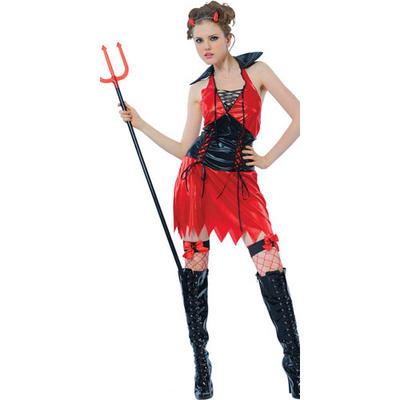 Teen Size New Red Hellfire Devil Teen Size Fancy Dress Halloween Costume