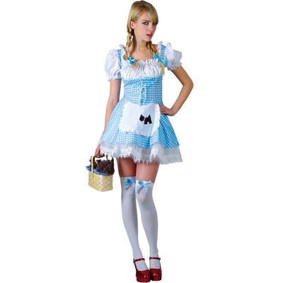 Teen Size Dorothy Sexy Fairytale Teen Size Fancy Dress Costume Blue XS
