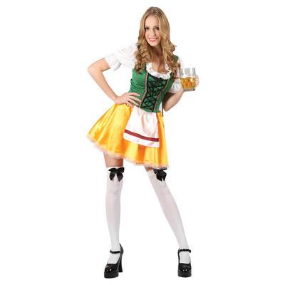Teen Size Sexy Bavarian Beer Girl German Serving Maid Fancy Dress Costume - XS