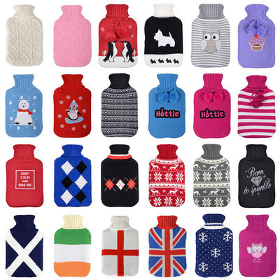 Large Hot Water Bottles Fabulous Quality Beautiful Knitted Covers