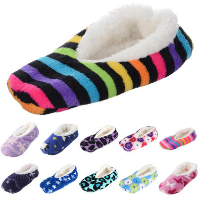 Ladies Ballerina Slippers With Chunky Fleece Lining