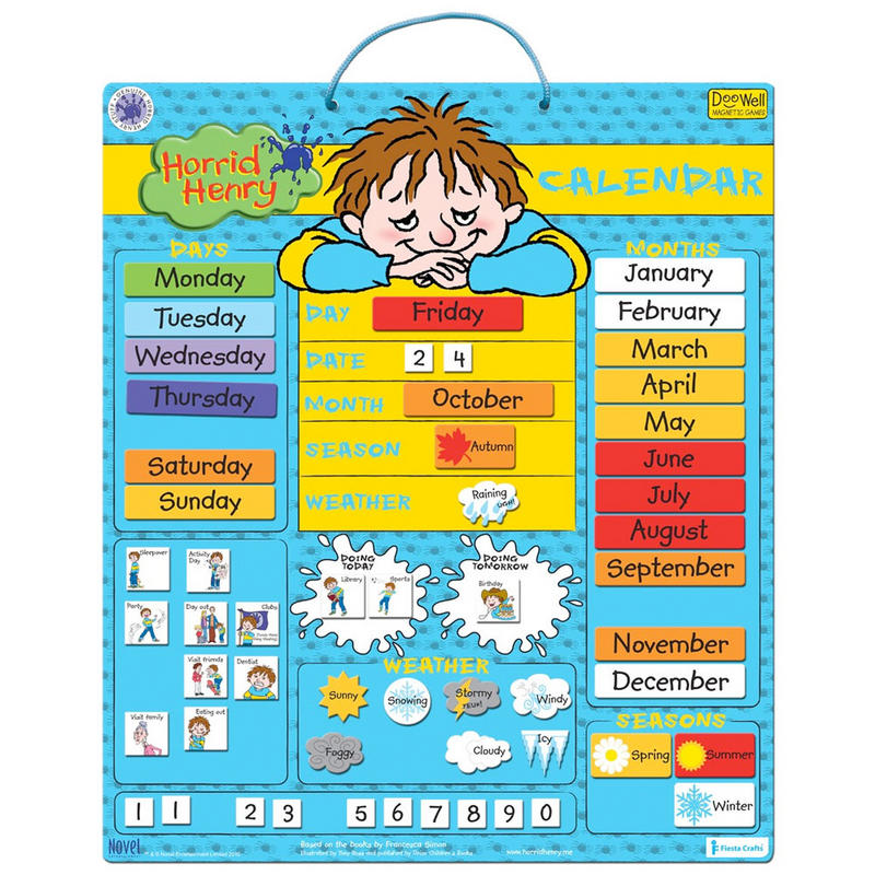 Large Horrid Henry Magnetic Daily Calendar Activity ...