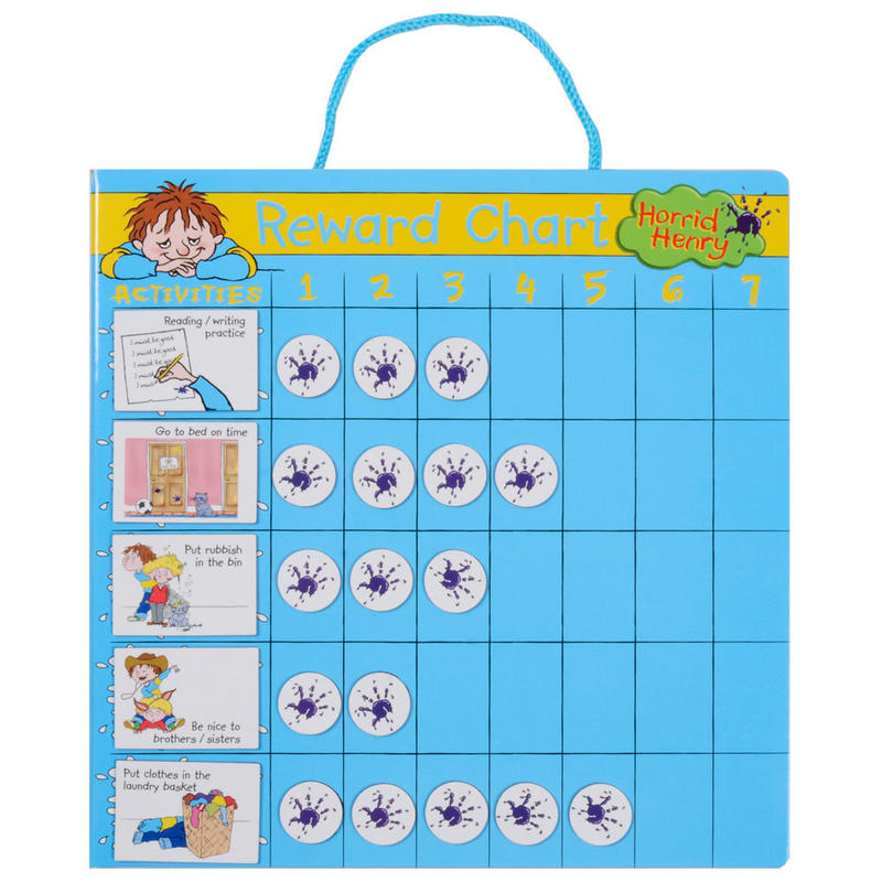 Horrid Henry Magnetic Good Behaviour Reward Activity Chart 18cm x 18cm ...