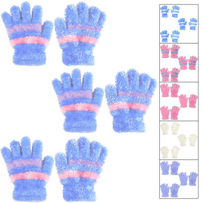 3 Pairs Of Ladies Super Soft Feather Feel Magic Gloves