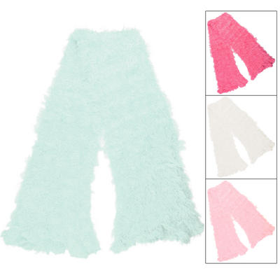 Girls Fluffy Feather Feel Versatile Scarf 120cm x 15cm