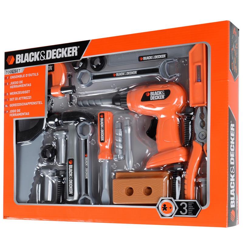 Toy Tool Set : Black decker plastic toy piece tool set age