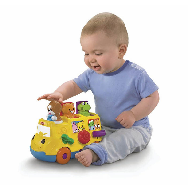 Learning Toys Ages 6 Months : Fisher price activity musical pop up bus ages months