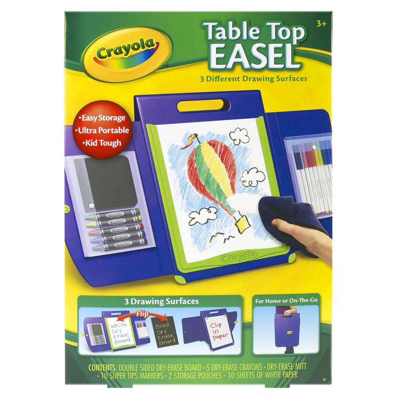 Crayola Portable Kid Tough Table Top Easel Drawing