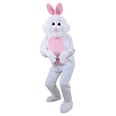 Adult Mascot Plush White Bunny Rabbit Fancy Dress Costume