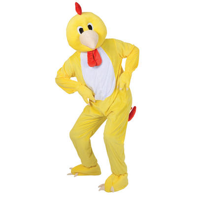 """Funky Chicken Mascot Fancy Dress Halloween Costume Fits Up To 6'2"""""""