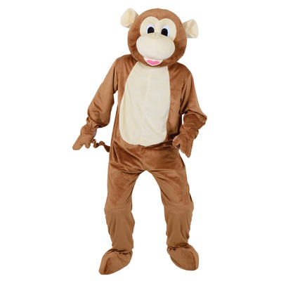 Cheeky Brown Monkey Mascot Fancy Dress Halloween Costume Fits Up To 6'2""