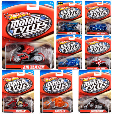 Hot Wheels Speed Cycles 1/64 Push Around Motorcycle And Rider