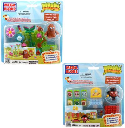 Mega Bloks Moshi Monster Moshlings playset Moshling Garden / Seeds Cart