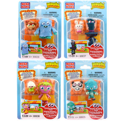 Mega Blocks Moshi Monster Zoo Poppet / Furi / Mizz Snoots / Dr. Strangeglove