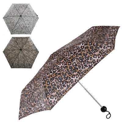 Ladies' Super Mini Umbrella Animal Prints Zebra Leopard Or Snake