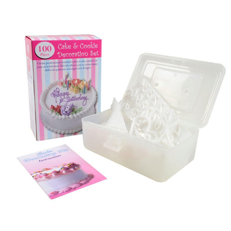 Cake & Cookie Baking Icing Piping Bag & Nozzle Decoration ...