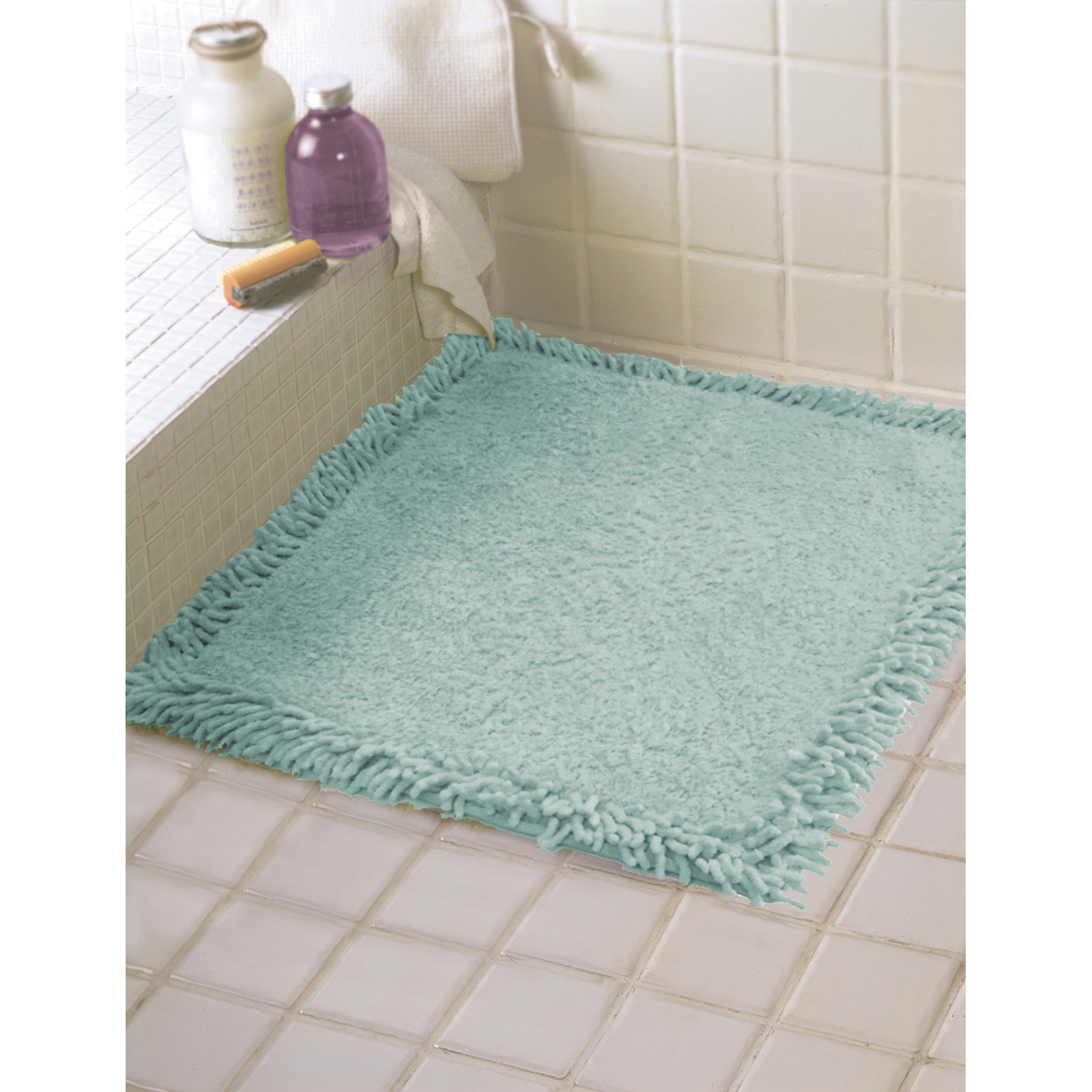bathroom floor liner 60cm x 60cm shower mat floor towel bath rug 100 cotton 10655