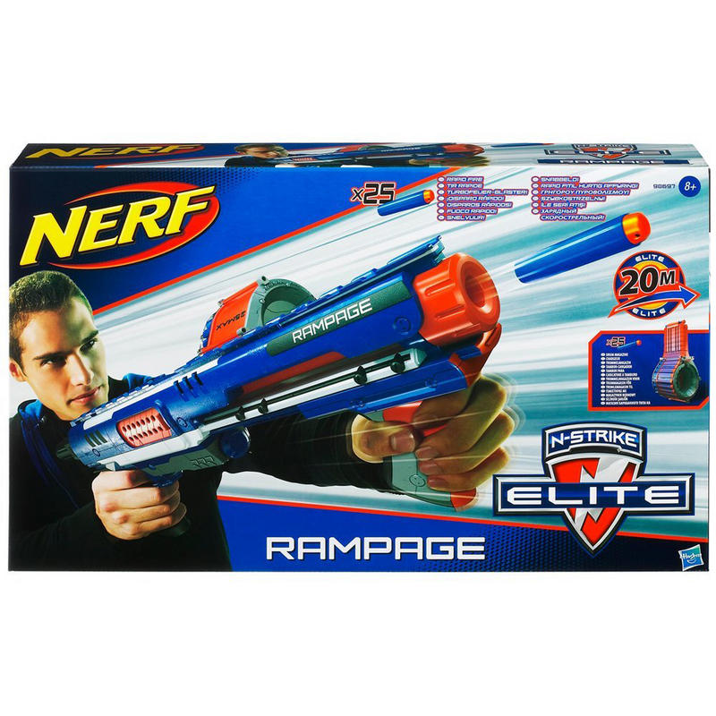 Nerf N Strike Elite Rampage Blaster With A 25 Dart Drum  : lrgHAL9869731000 <strong>Leather</strong> Chair Target from www.xs-stock.co.uk size 800 x 800 jpeg 123kB