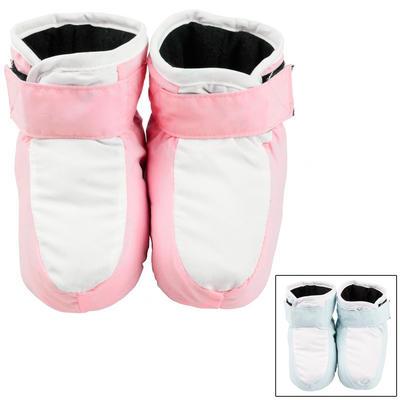 Baby Booties Hook Loop Fastening Blue/Pink White 0-6 Mths 6-12 Mths