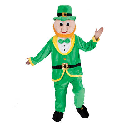 Green Leprechaun Full Body Mascot Charity and Sports Events Fancy Dress Costume