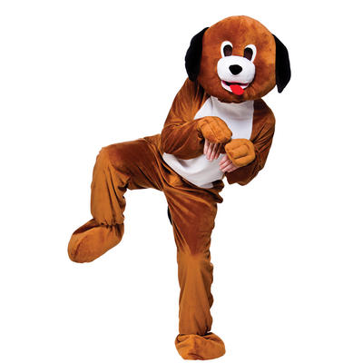 Brown Puppy Dog Full Body Mascot Charity & Sports Events Fancy Dress Costume