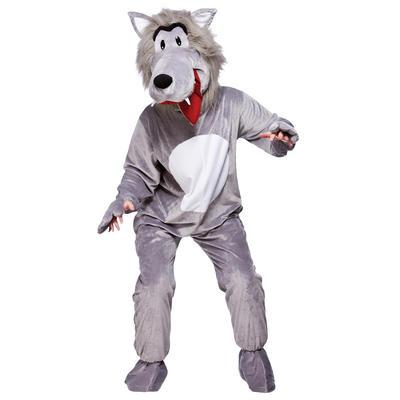 Grey Big Bad Wolf Full Body Mascot Charity Sports Events Fancy Dress Costume