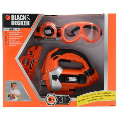 Kids Black Amp Decker Battery Power Drill Tool Plastic Toy