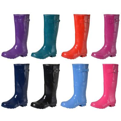 Ladies & Girls Coloured Gloss Wellington Boots