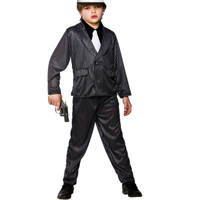 Boys Gangster Wise Guy Fancy Dress Halloween Party Costume
