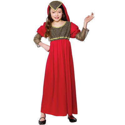 Girls Red Princess Juliet Fancy Dress Halloween Costume