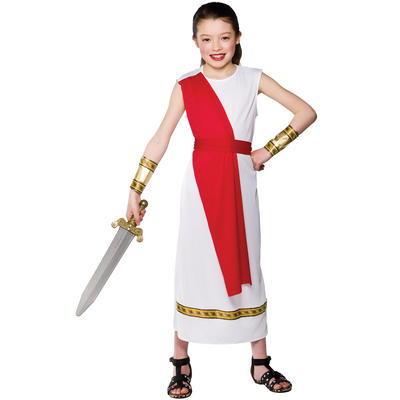 Girls Ancient Roman Historical Fancy Dress Costume
