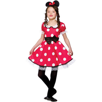 Girls Cute Mouse Animal Fancy Dress Halloween Costume