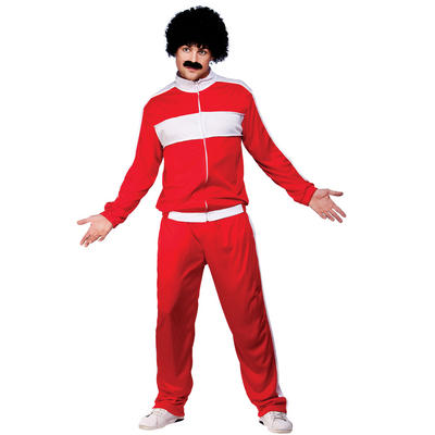 Adults Funny Scouser Tracksuit Halloween Fancy Dress Up Costume