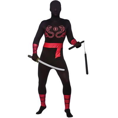 Adults Skinz Spandex Complete Body Ninja Skinz Suit New