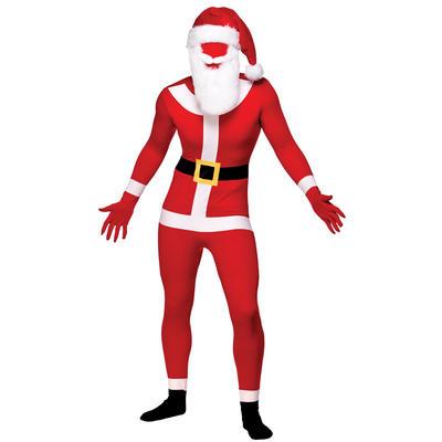 Santa Christmas Xmas Skinz Body Sock Fancy Dress costume