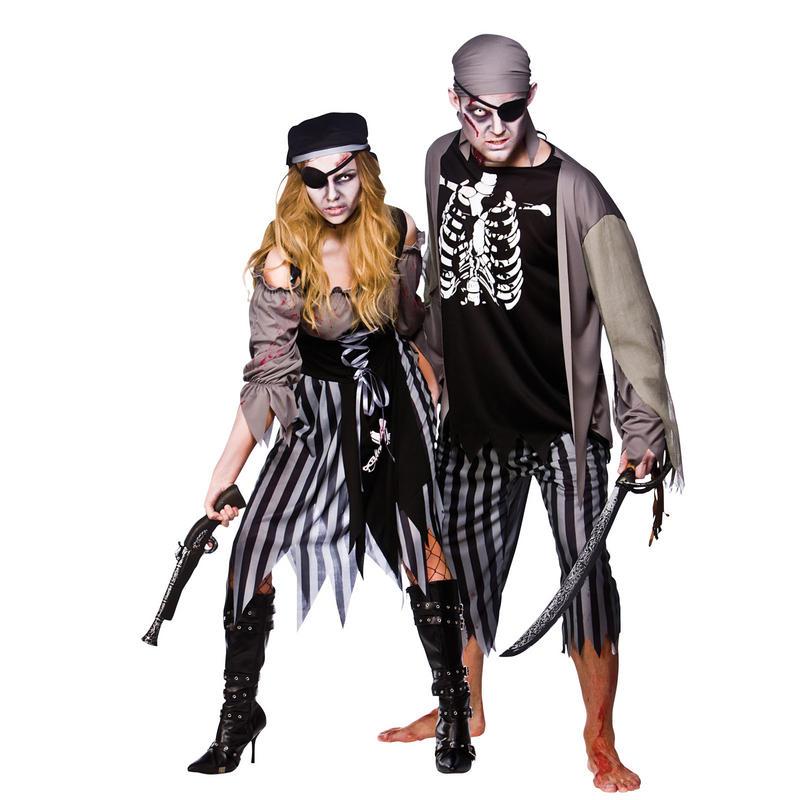 mens zombie skeleton pirate horror scary fancy dress. Black Bedroom Furniture Sets. Home Design Ideas