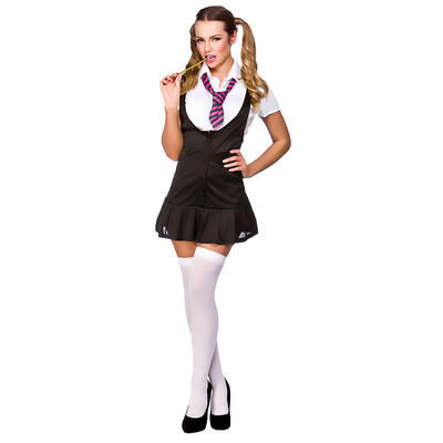 Ladies Naughty Schoolgirl Fancy Dress Halloween Costume