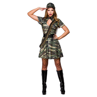 Ladies Combat Cutie Fancy Dress Halloween Costume